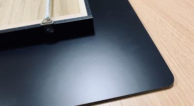 3mmのアルミ複合板にボードを圧着。